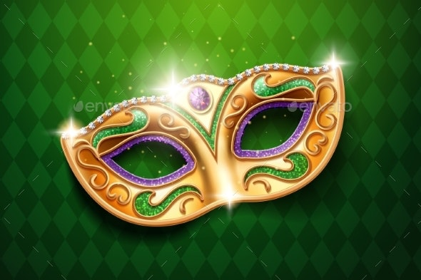 Mask with Diamonds for Carnival Masquerade - Miscellaneous Seasons/Holidays