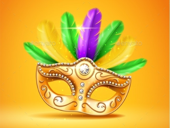 Colorful Feather Masquerade Mask - Miscellaneous Seasons/Holidays