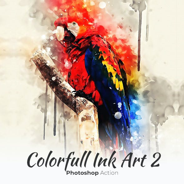 Colorfull Ink Art 2 - Photoshop Action