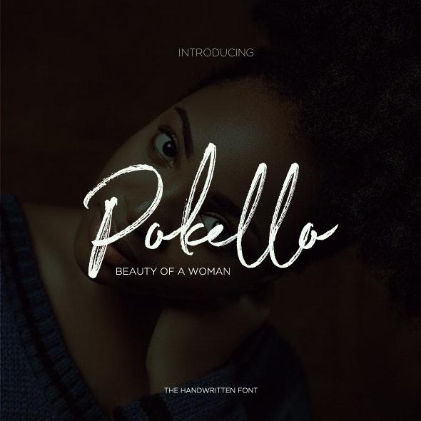 Hello Pokello Script - Hand-writing Script