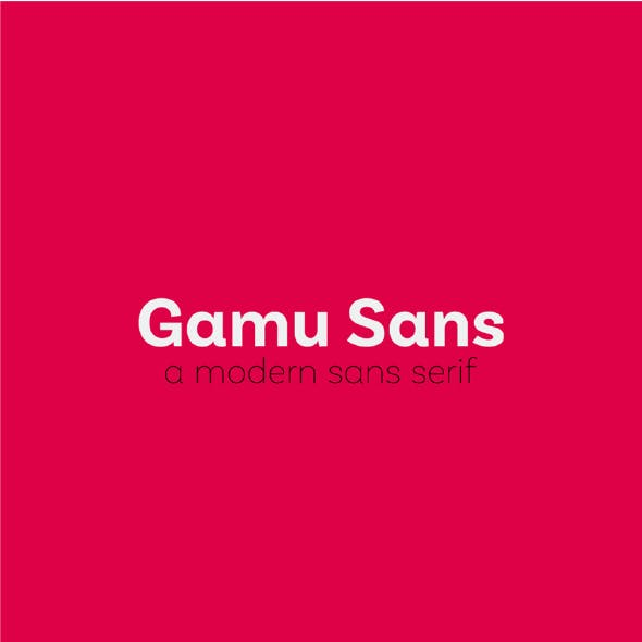 Gamu Sans Serif Font