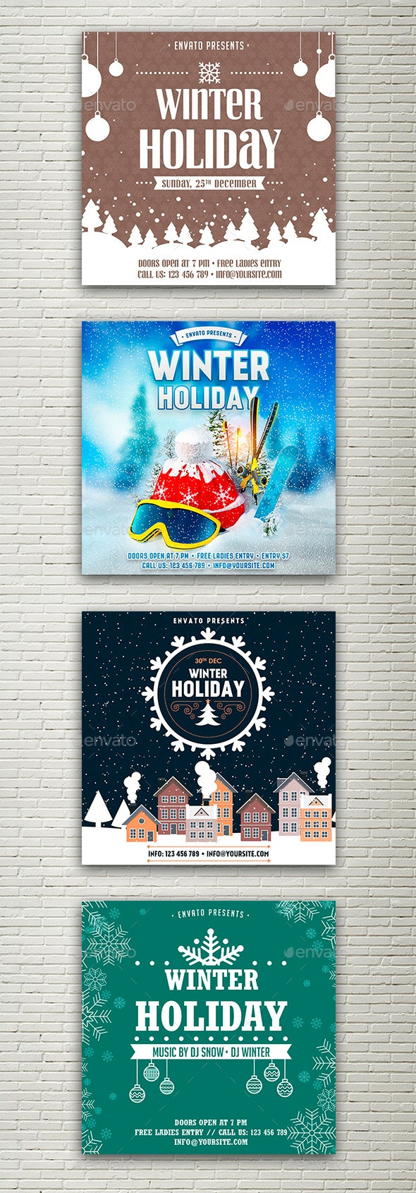 Winter Holiday Facebook and Instagram Banner - Social Media Web Elements