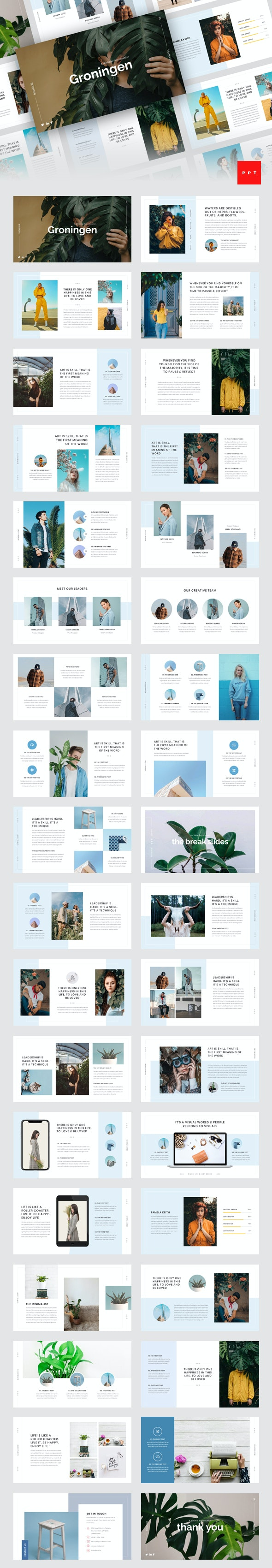 Groningen - Minimal PowerPoint Template - Creative PowerPoint Templates