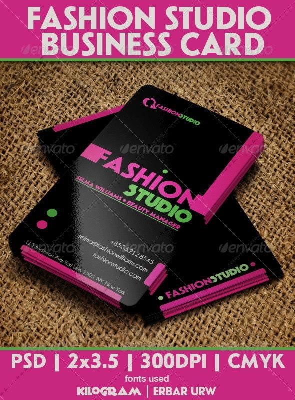 Fashion Studio Business Card - Creative Business Cards