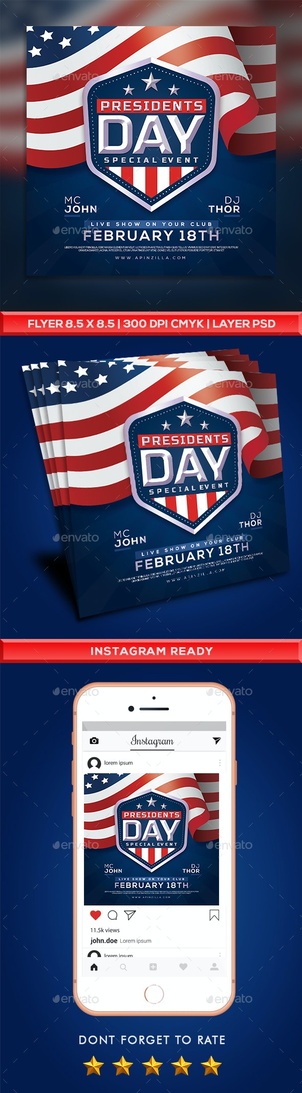 Presidents Day Flyer Event - Events Flyers
