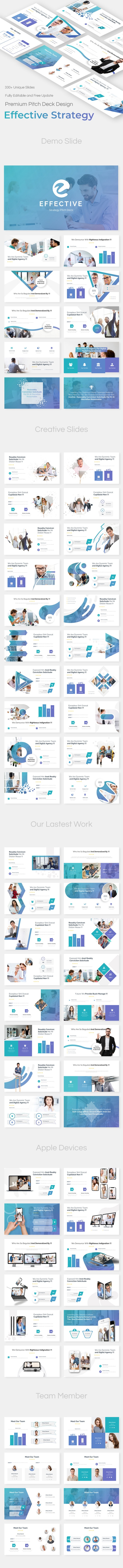 Effective Strategy Pitch Deck Google Slide Template - Google Slides Presentation Templates