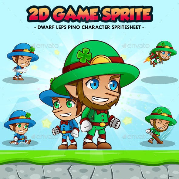 Dwarf Leps Pino - 2D Game Character Sprites
