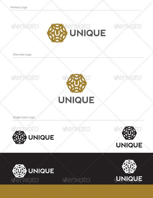 Unique Logo Design - LET-021 - Letters Logo Templates