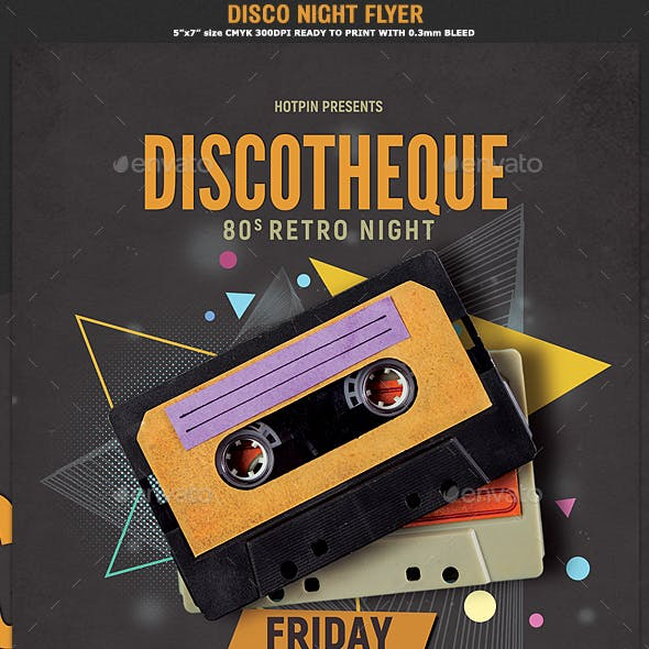 Disco Retro Party Flyer