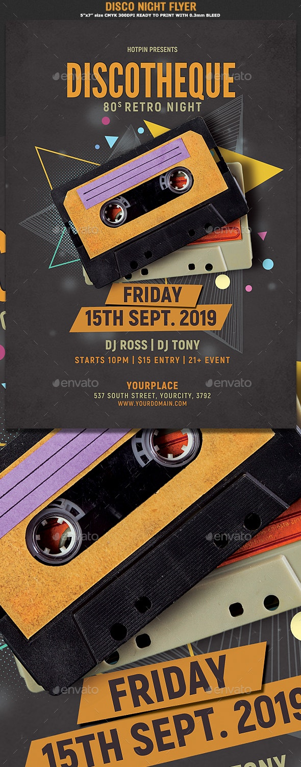 Disco Retro Party Flyer - Clubs & Parties Events