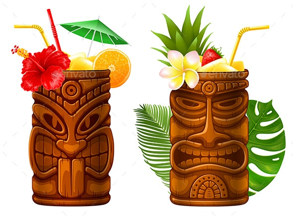 Cocktail in Tiki Mug - Food Objects