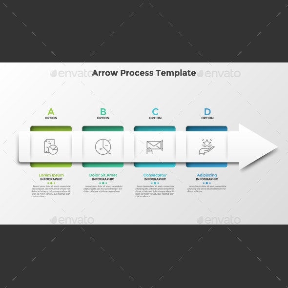 Arrow Process Infographic Template - Infographics