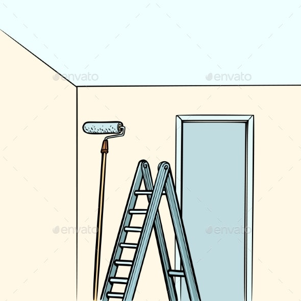 Ladder Repair Paint Roller - Man-made Objects Objects
