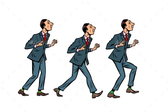 Businessman Walks, Gait Character Phase - People Characters