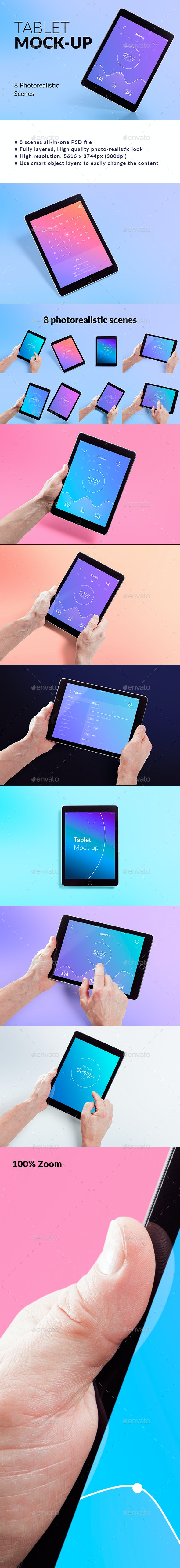 Isolated Tablet Mock-up - Mobile Displays