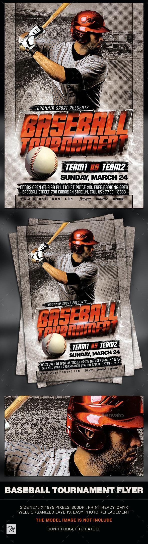 Baseball Tournament Flyer - Sports Events