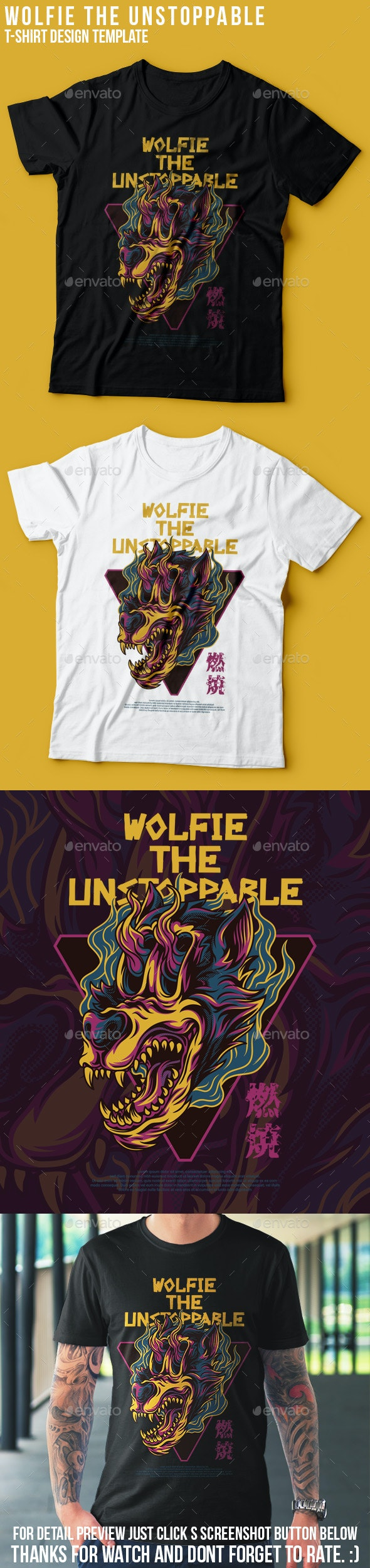 Wolfie the Unstoppable T-Shirt Design - Sports & Teams T-Shirts