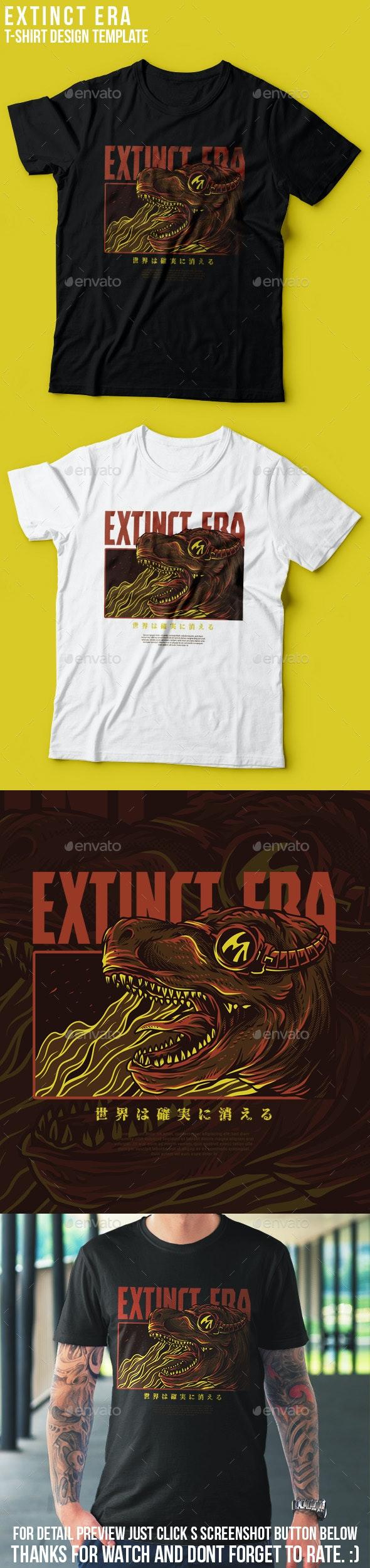 Extinct Era T-Shirt Design - Grunge Designs