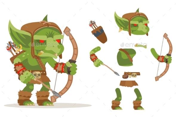 Archer Goblin Dungeon Monster Evil Minion Fantasy - Miscellaneous Vectors
