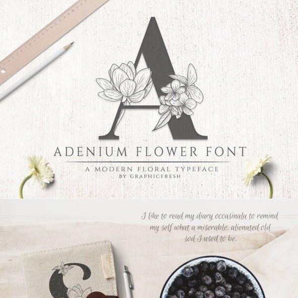 Adenium Flower Font