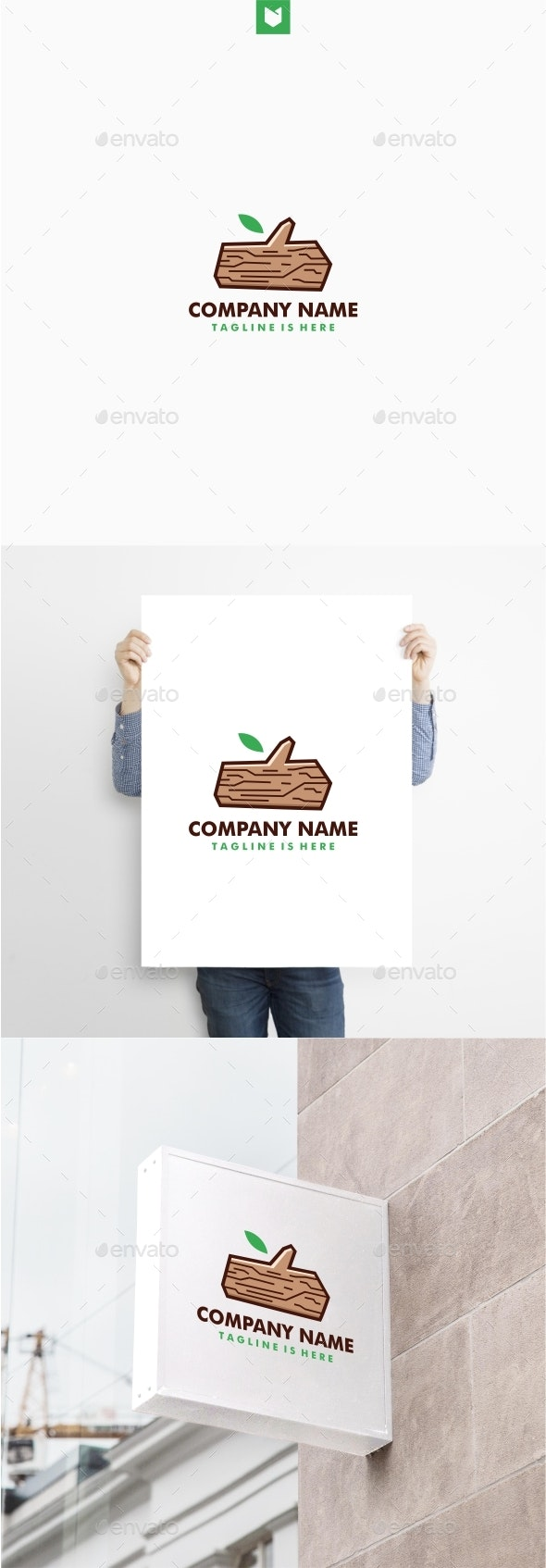 Timber Lumber Wood Logo - Nature Logo Templates