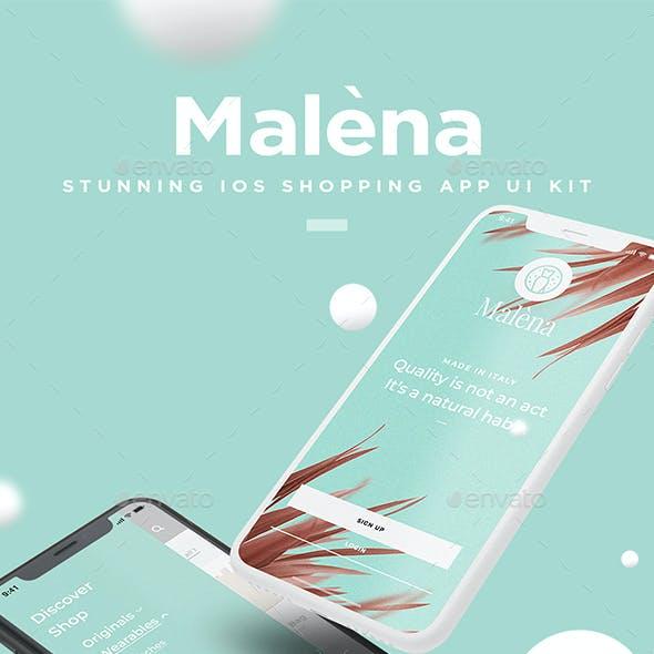 Malèna - iOS Shopping App UI Kit