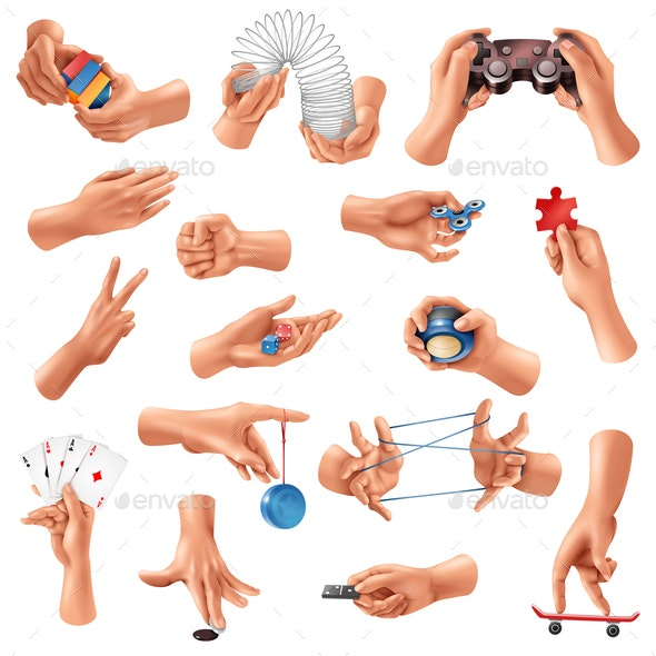 Hand Games Set - People Characters