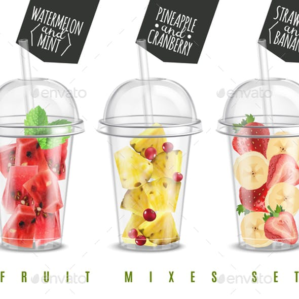 Fruit Mix Realistic Set