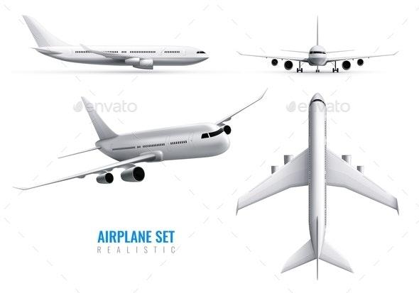 Airplane Realistic Set - Miscellaneous Vectors
