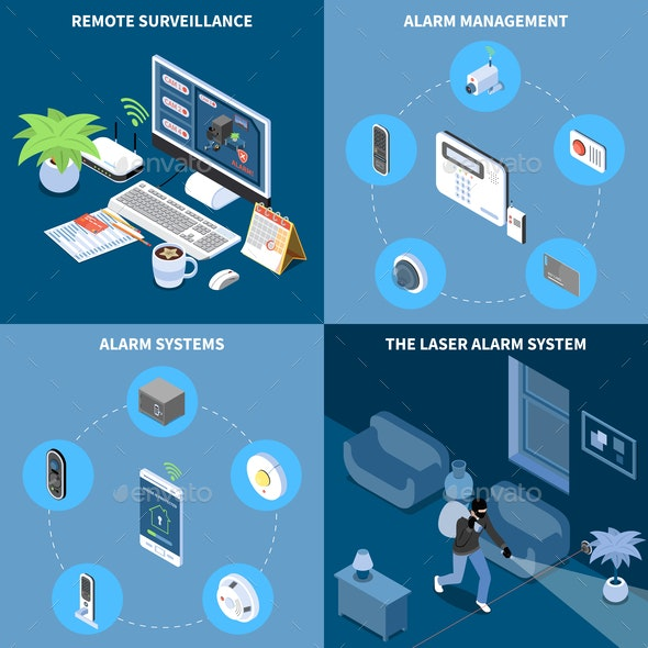 Home Security 2x2 Design Concept - Business Conceptual