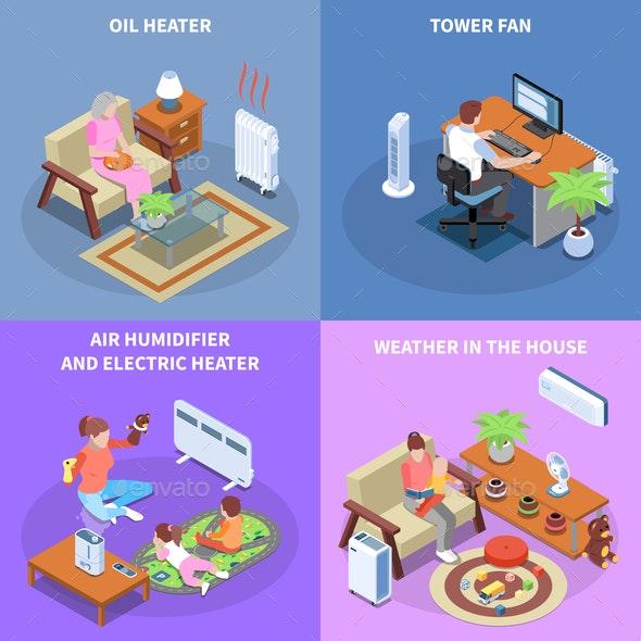 Home Climate Control 2x2 Design Concept - Business Conceptual