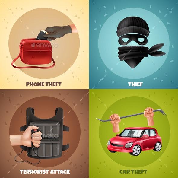 Social Crime Design Concept - Backgrounds Decorative