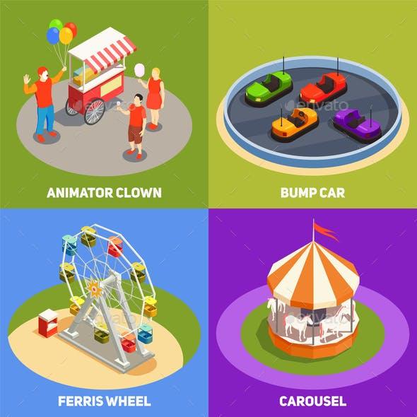Amusement Park 2x2 Design Concept