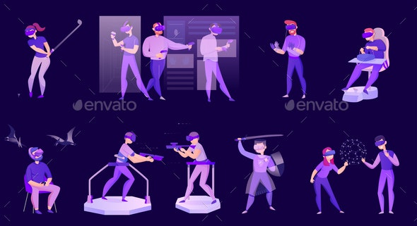 Virtual Reality Set - People Characters