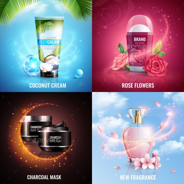 Cosmetics 2x2 Design Concept - Business Conceptual