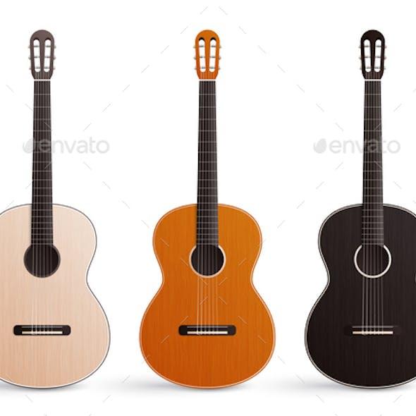 Classic Guitar Realistic Set