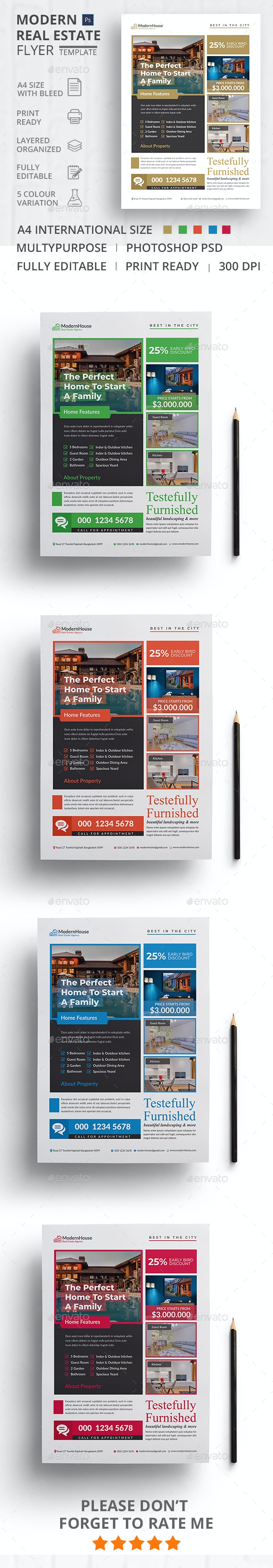 Modern Real Estate Flyer - Flyers Print Templates