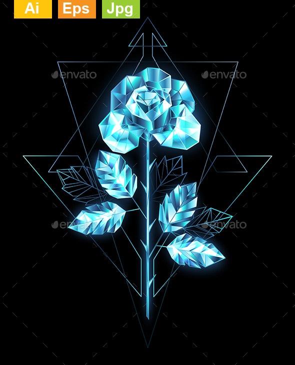 Ice Rose - Decorative Symbols Decorative