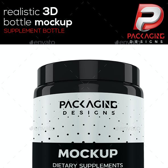 Realistic 3D Supplement Bottle Mock-Up-6