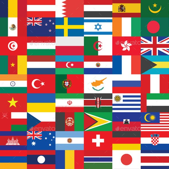 200 Country Flag Vectors