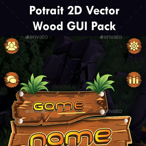 Wooden Theme Game GUI Pack