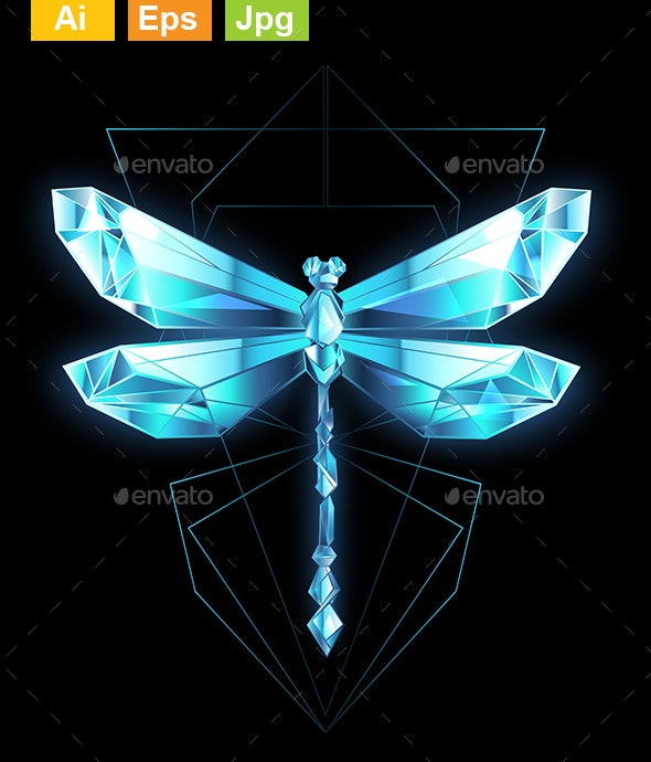 Ice Dragonfly - Decorative Symbols Decorative