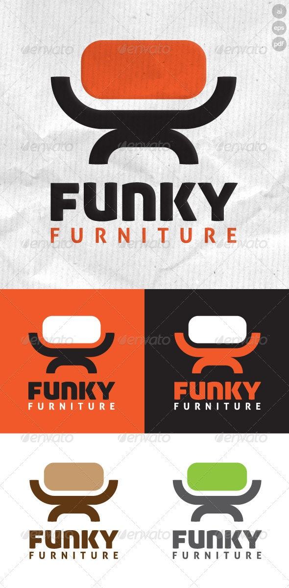 Funky Furniture - Objects Logo Templates