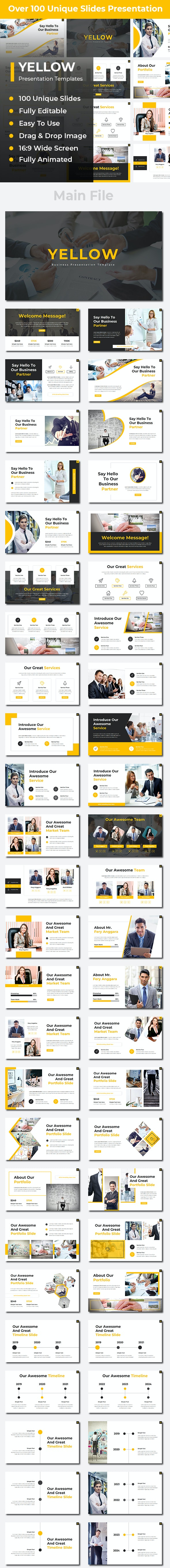 Yellow Business Keynote - Business Keynote Templates