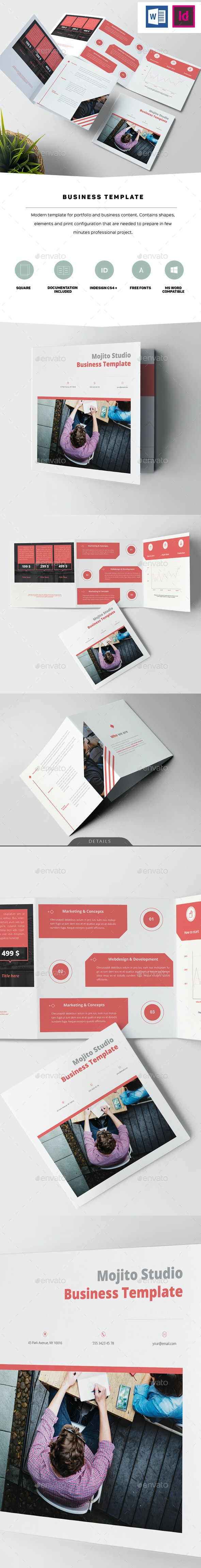 Square Business Template - Informational Brochures