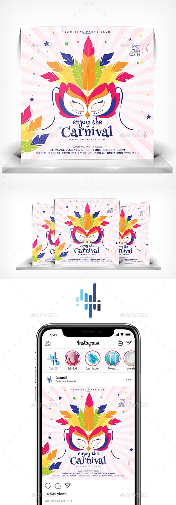 Carnival Party Flyer - Flyers Print Templates
