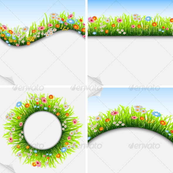 Seasonal Background Frame and Poster - Flowers & Plants Nature