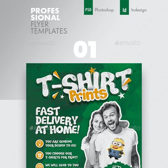 T-Shirt Flyer Bundle Templates