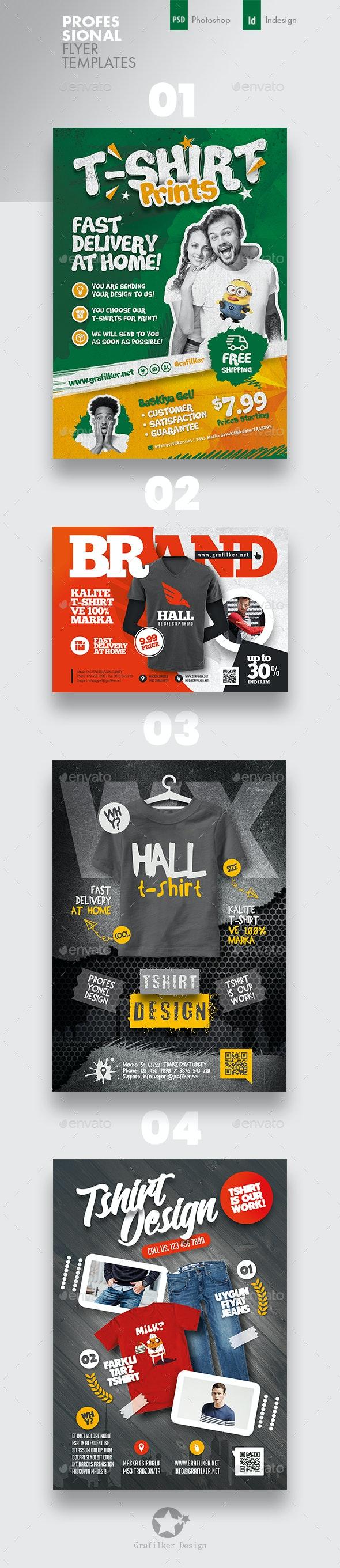 T-Shirt Flyer Bundle Templates - Corporate Flyers