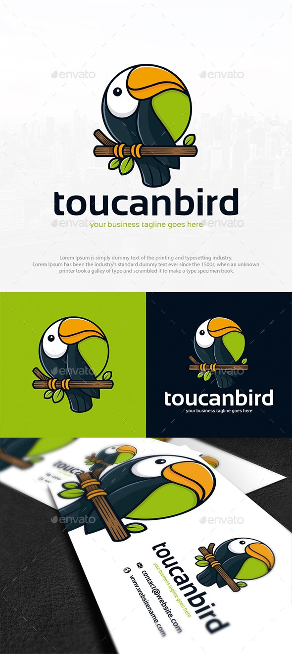 Tropical Toucan Logo Template - Animals Logo Templates